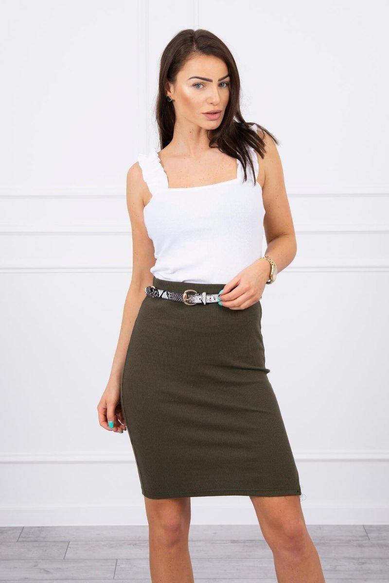 Dámska sukňa 9085 - khaki - Uni