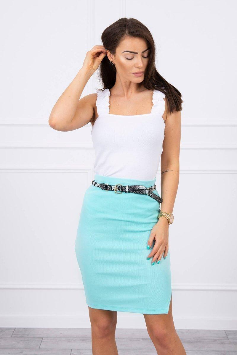 Dámska sukňa 9085 - mätová - Uni
