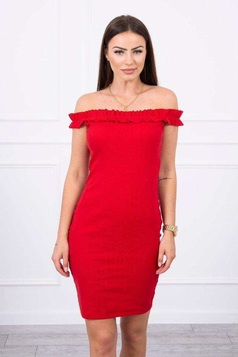 Dámske šaty 9097 - červené - Uni