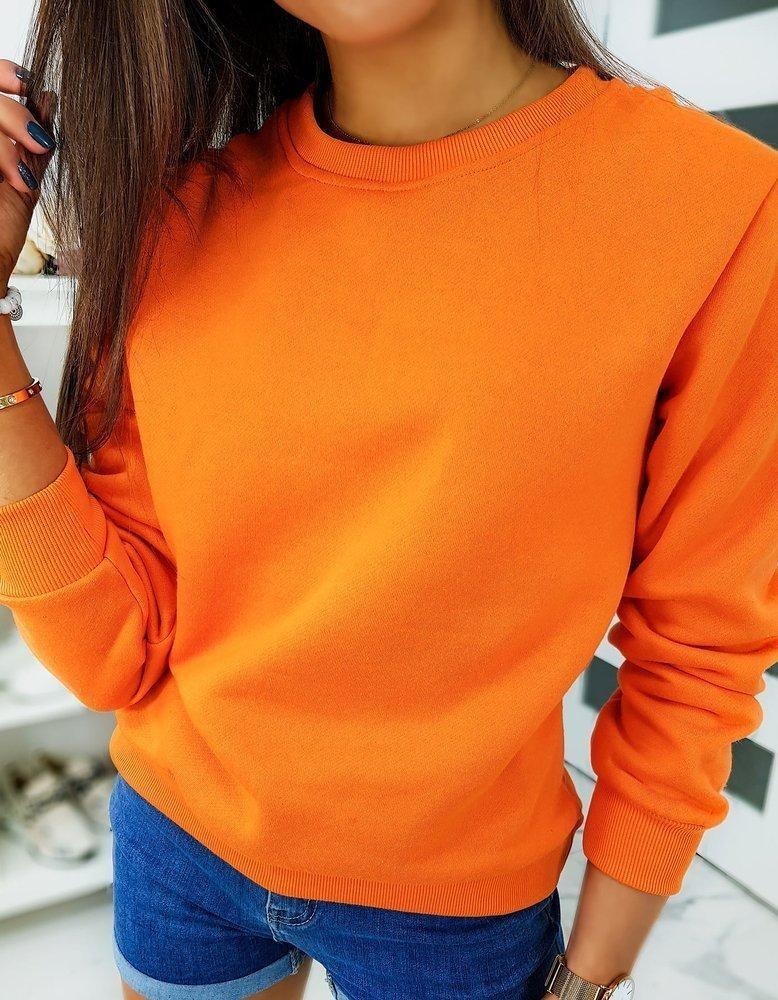 Klasická dámska mikina FASHION II bez kapucne BY0317 - oranžová - XXL
