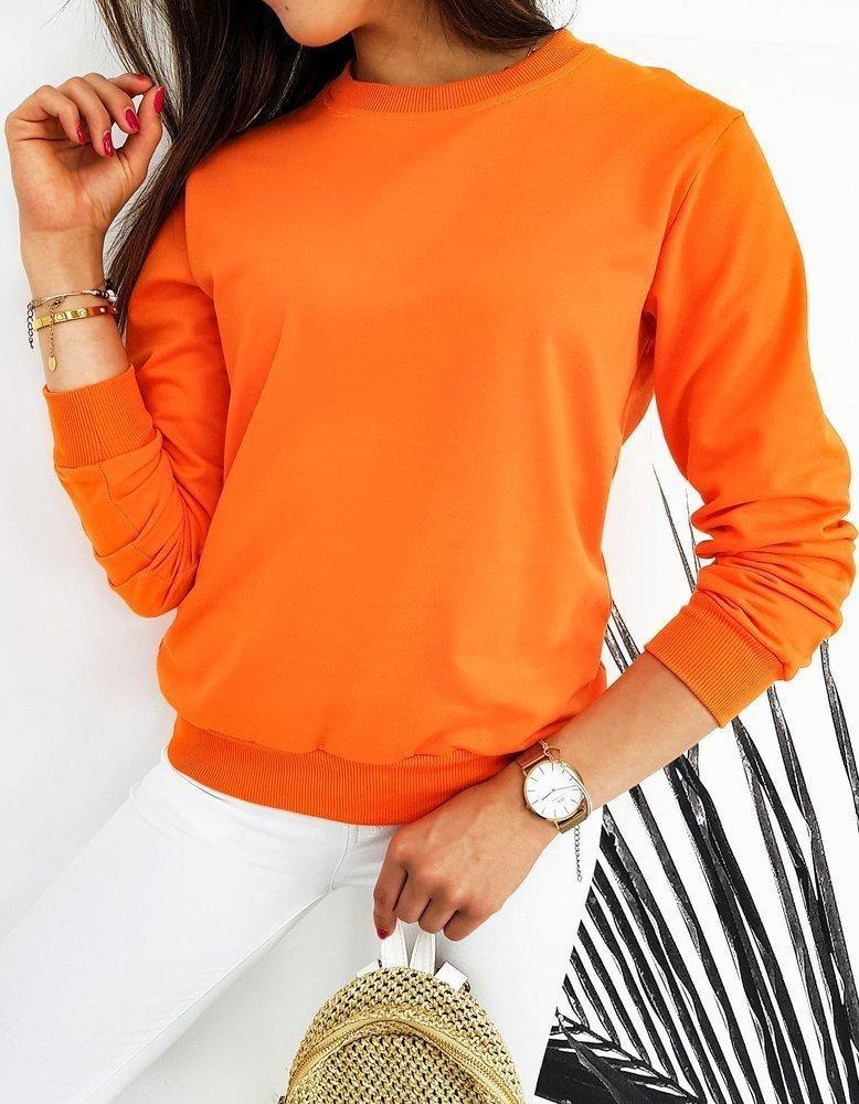 Oranžová dámska mikina CARDIO BY0426 - L