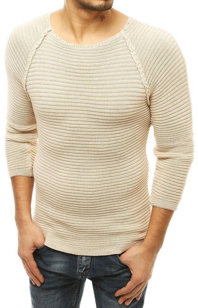Svetlobéžový pánsky sveter WX1578 - L