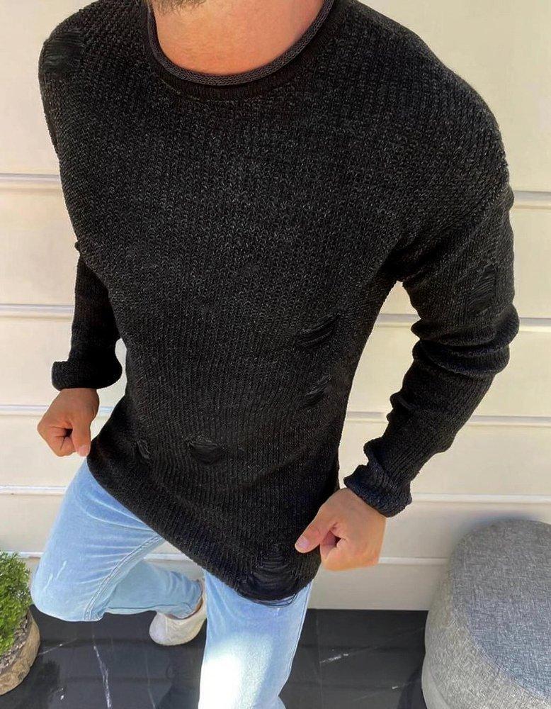 Pánsky čierny sveter WX1582 - M