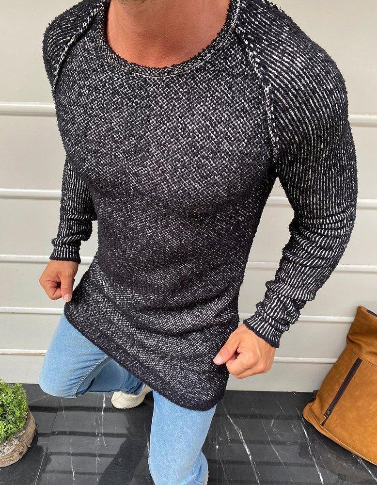 Pánsky čierny sveter WX1583 - L