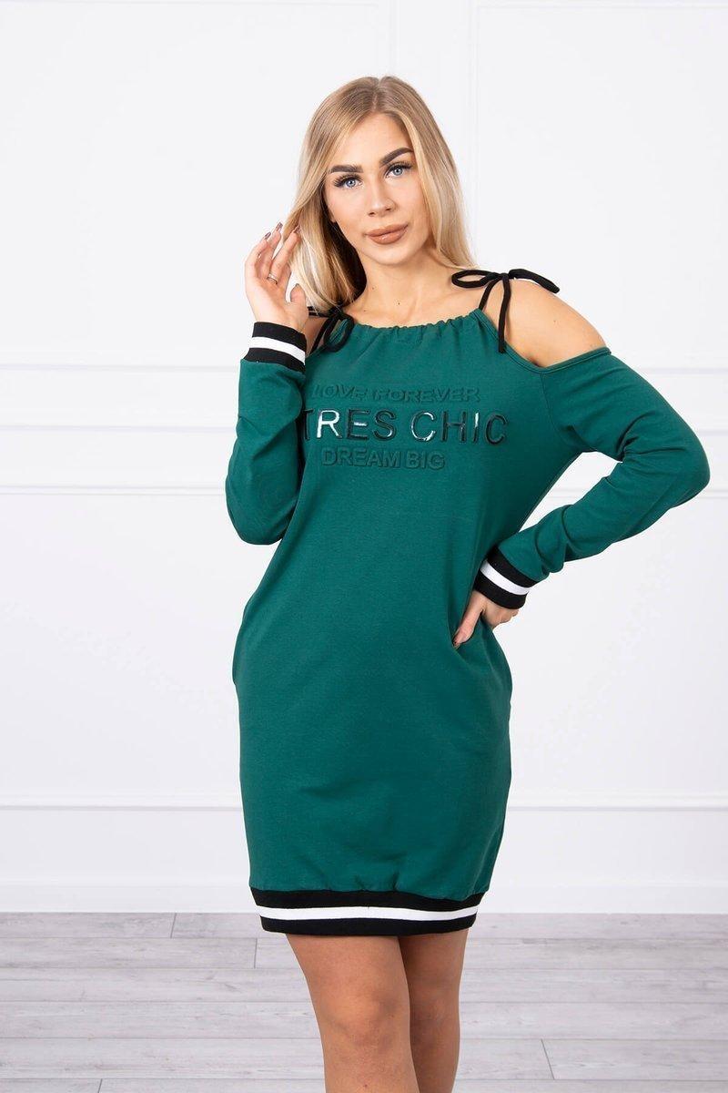 Zelené dámske šaty 62182 - Uni