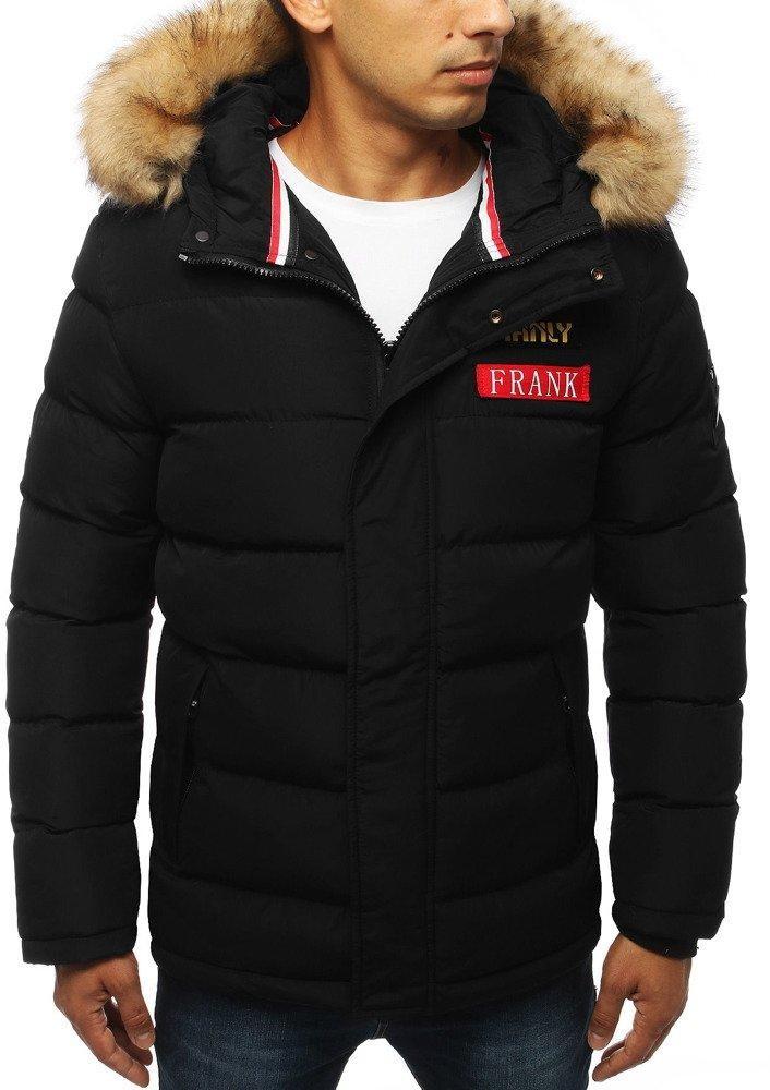 Zimná pánska bunda s kapucňou (tx2947) - čierna, veľ. XXL - XXL