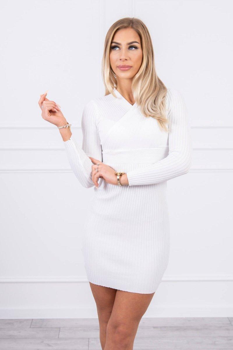Dámske svetrové šaty 5081 - ecru - Uni