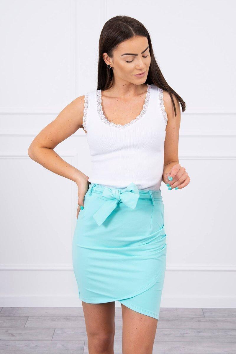 Dámska sukňa 8984 - mätová - Uni