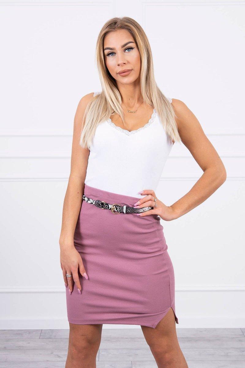 Dámska sukňa 9085 - tmavoružová - Uni