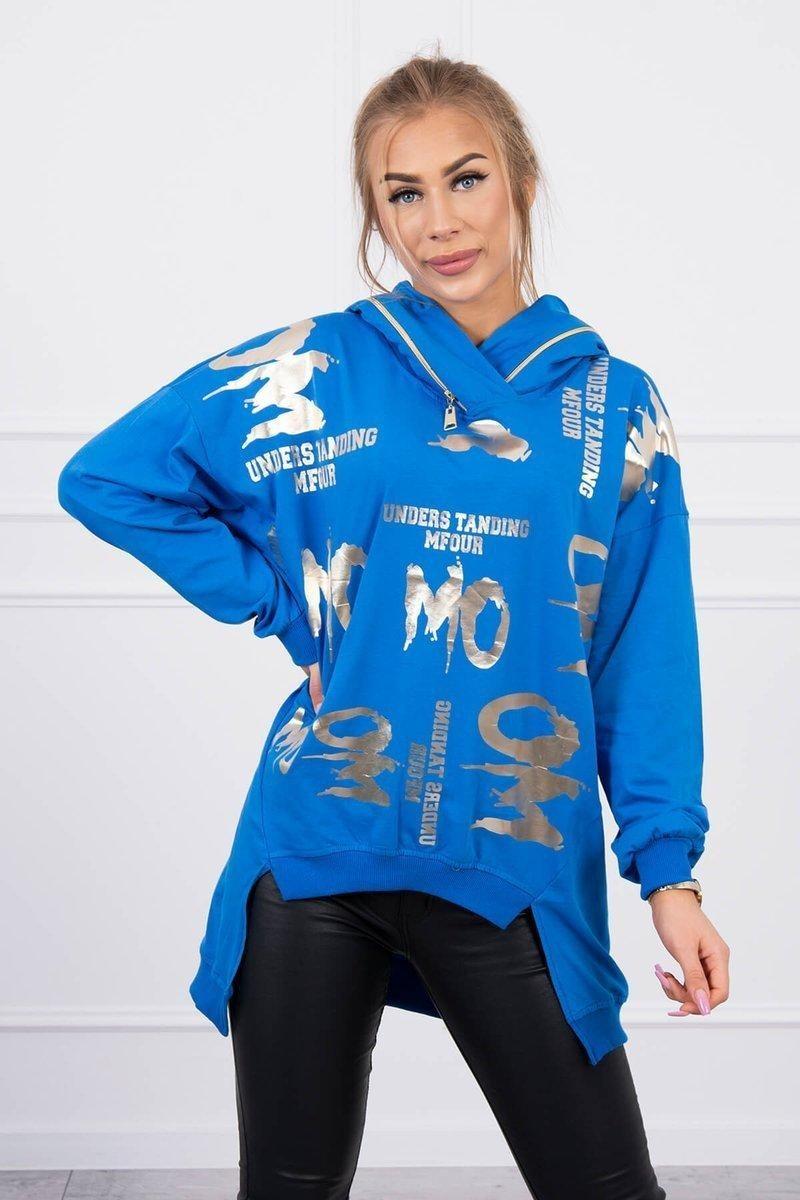 Dámska mikina 9237 - modrá - Uni