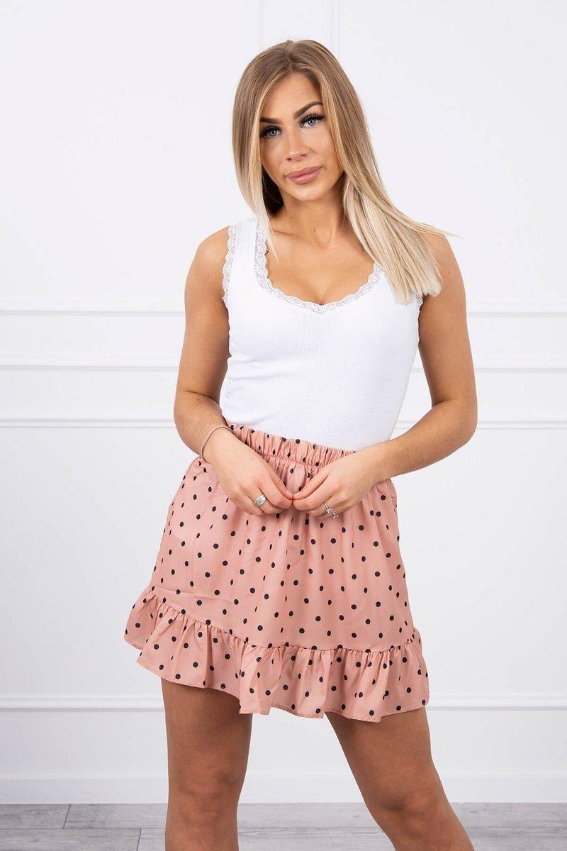 Dámska sukňa 9259 - tmavomarhuľová - Uni