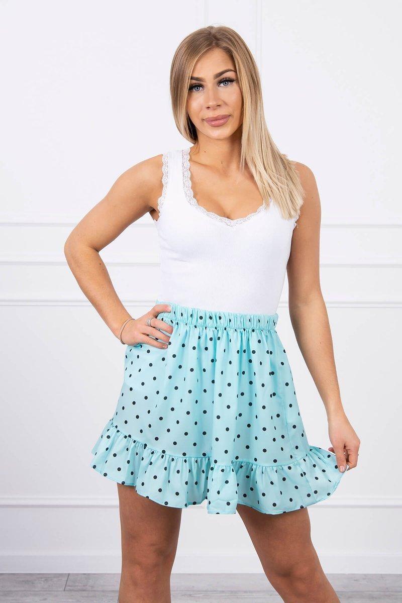 Dámska sukňa 9259 - mätová - Uni