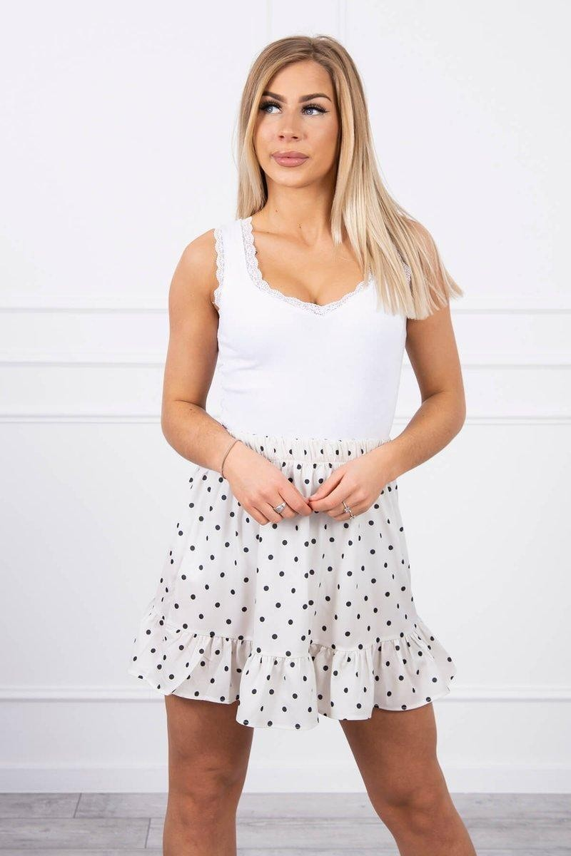Dámska sukňa 9259 - ecru - Uni