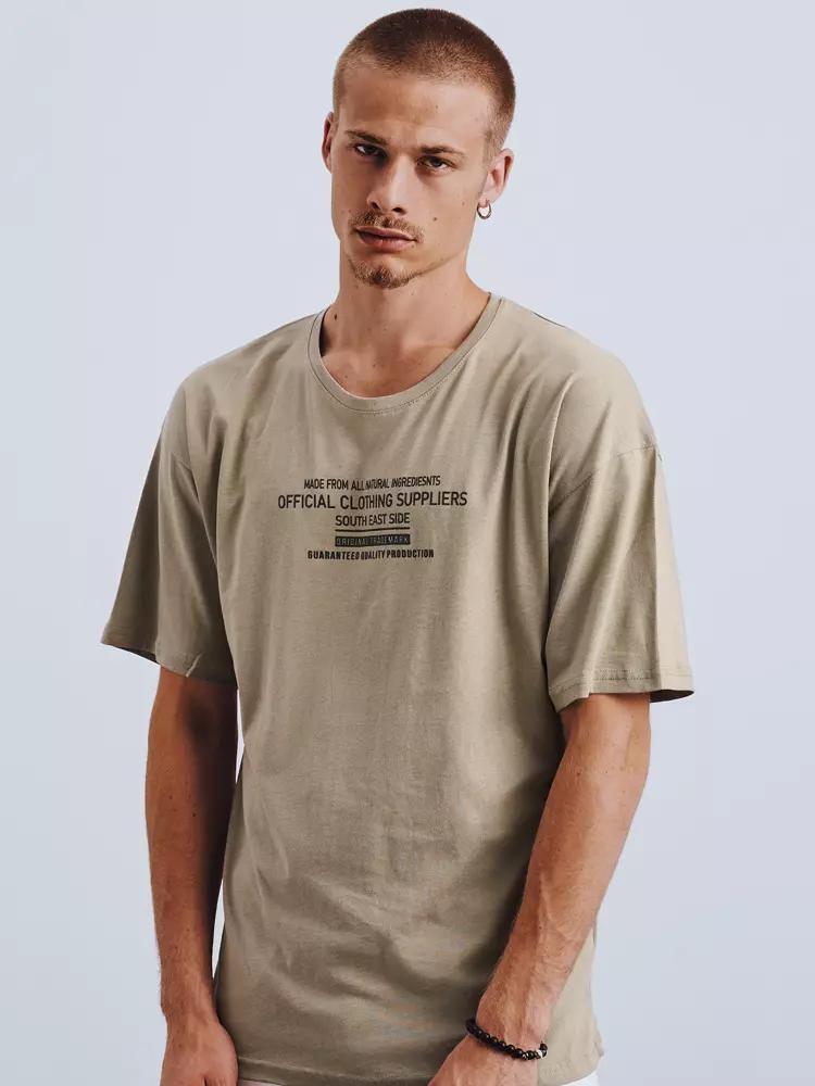 Pánske bavlnené tričko RX4648 - khaki - L