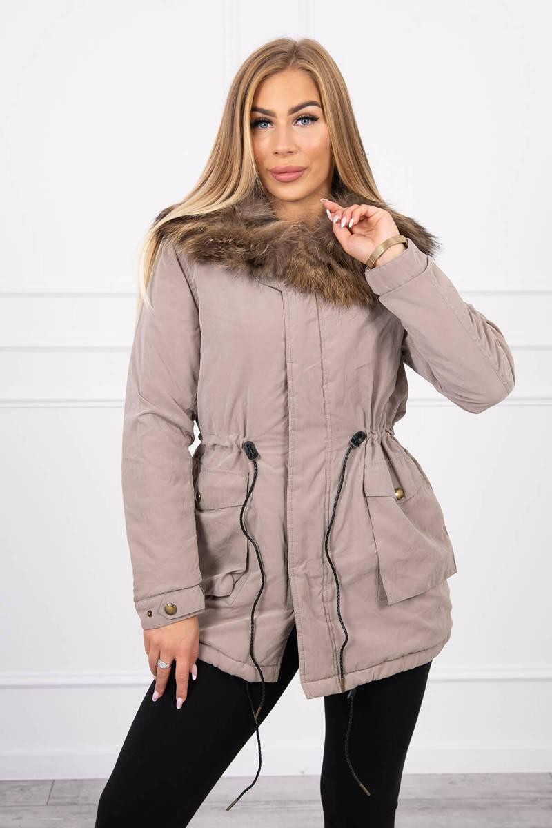 Zimná bunda pre ženy TIFFI 14 - béžová - S