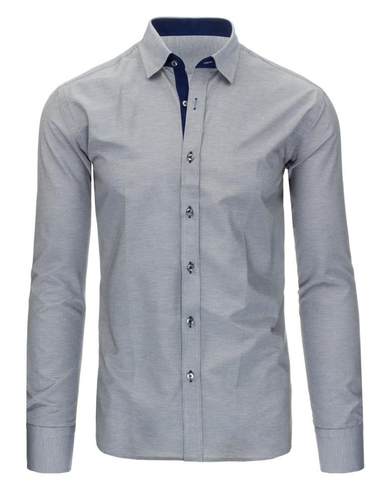Čierno-biela košeľa s károvaným vzorom (dx1296), veľ. XXL - XXL