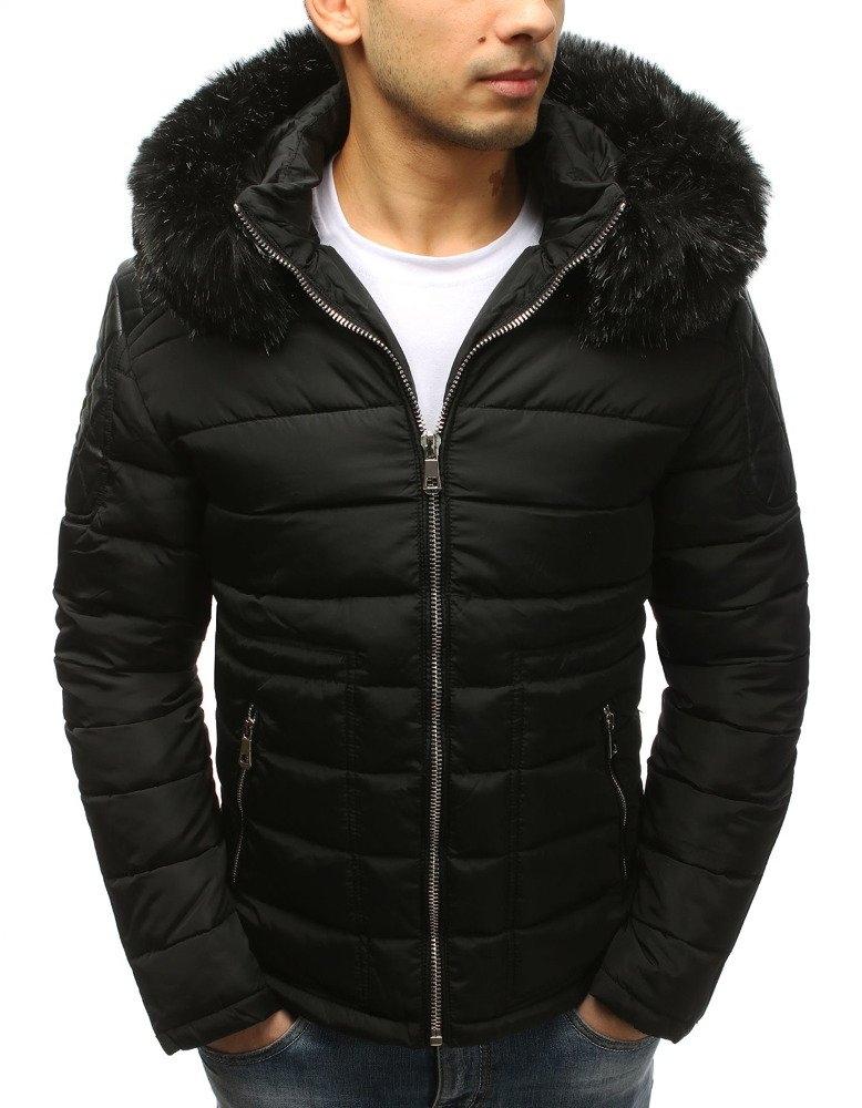 Pánska zimná bunda (tx2564) - čierna, veľ. M - M
