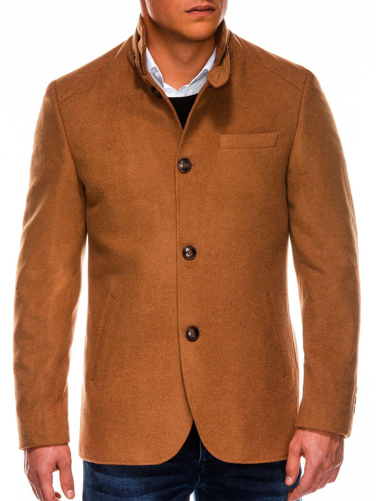 Pánsky hnedý kabát C427, veľ. XXL - XXL