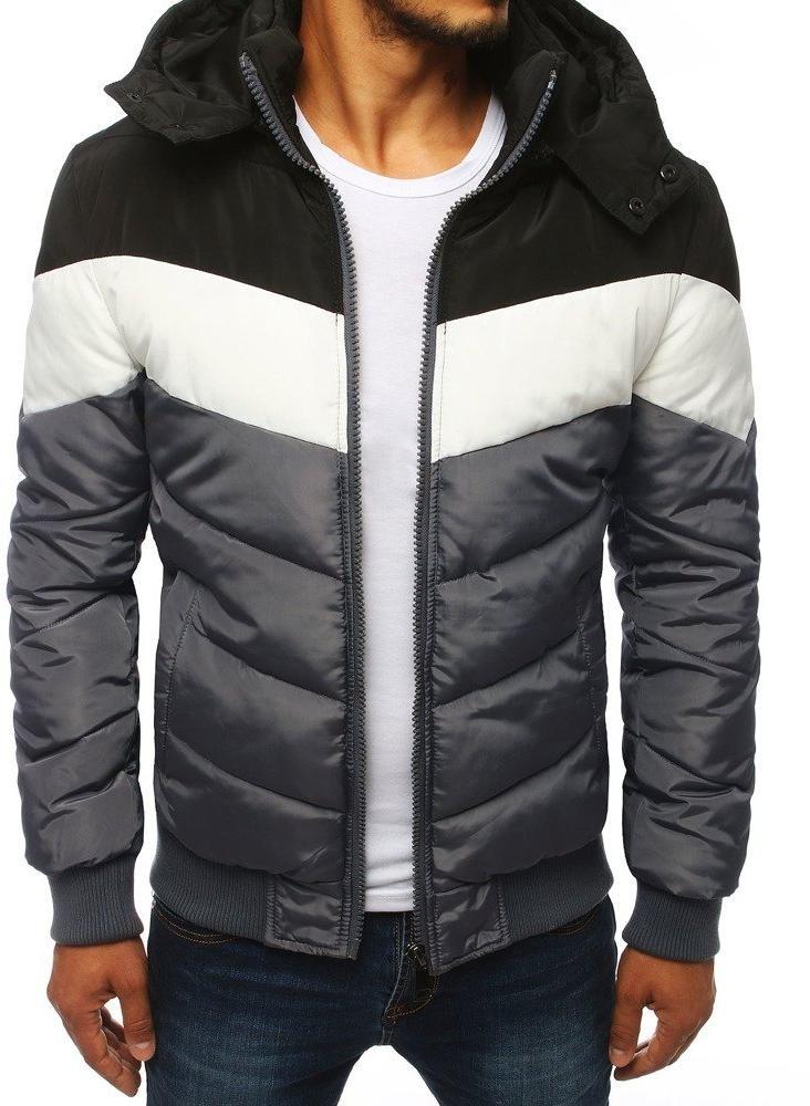 Pánska sivá zimná bunda (tx2838), veľ. XXL - XXL