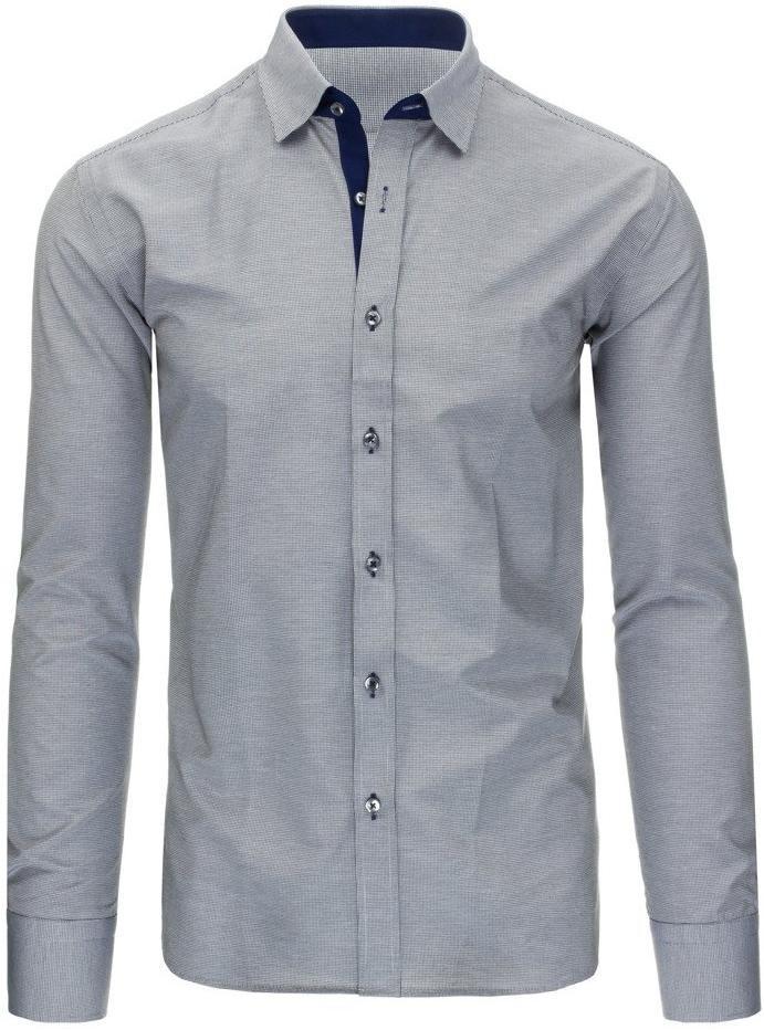 Čierno-biela pánska košeľa s károvaným vzorom (dx1296), veľ. XL - XL