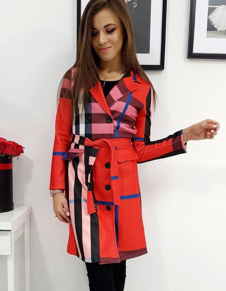 Štýlový kabát BURBERRY (ny0234) - červený, veľ. XL - XL