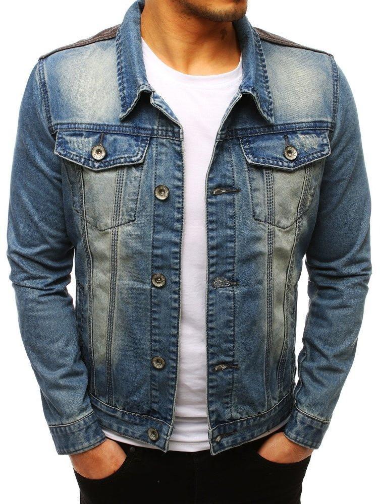 Pánska džínsová bunda (tx2645) - modrá, veľ. M - M